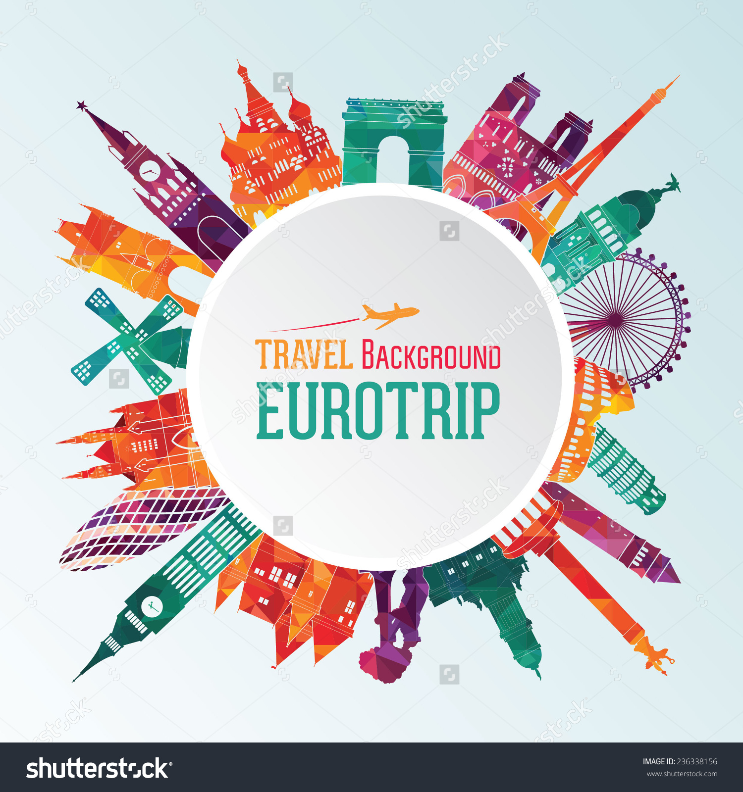 Europe Travel Clip Art.