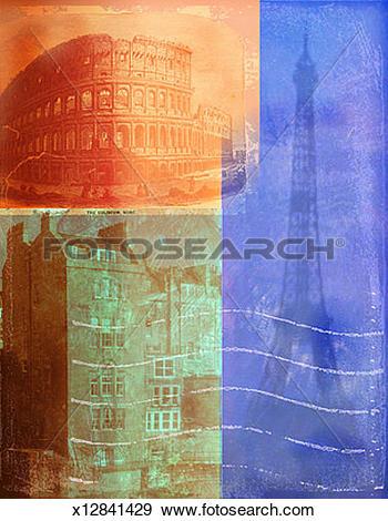Stock Illustration of European Architecture x12841429.