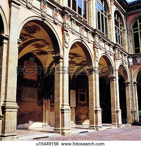 Stock Images of European Architecture, Artists, Circle Building.