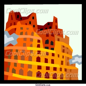 European architecture Vector Clip art.