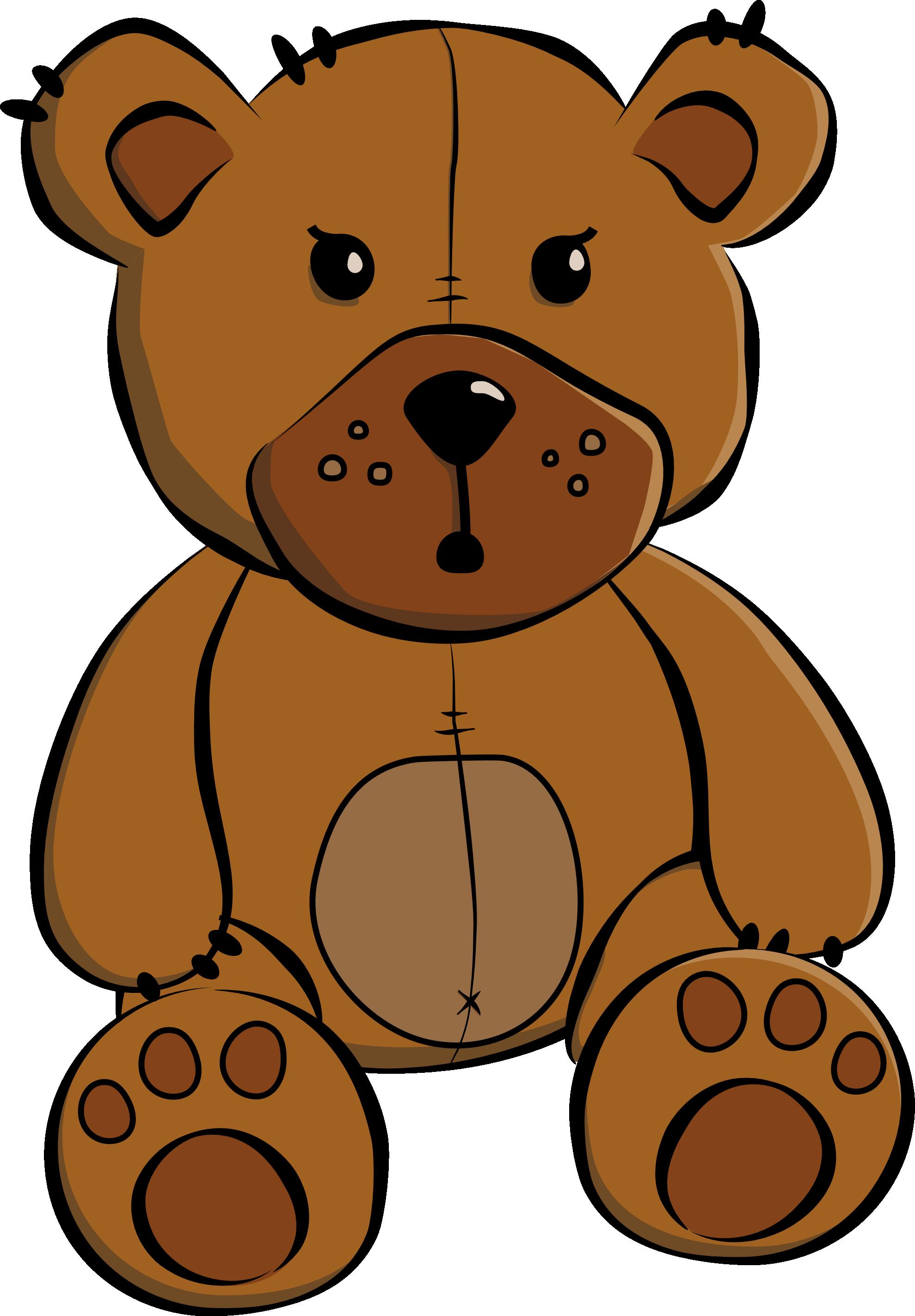 Cute Brown Bear Clipart.