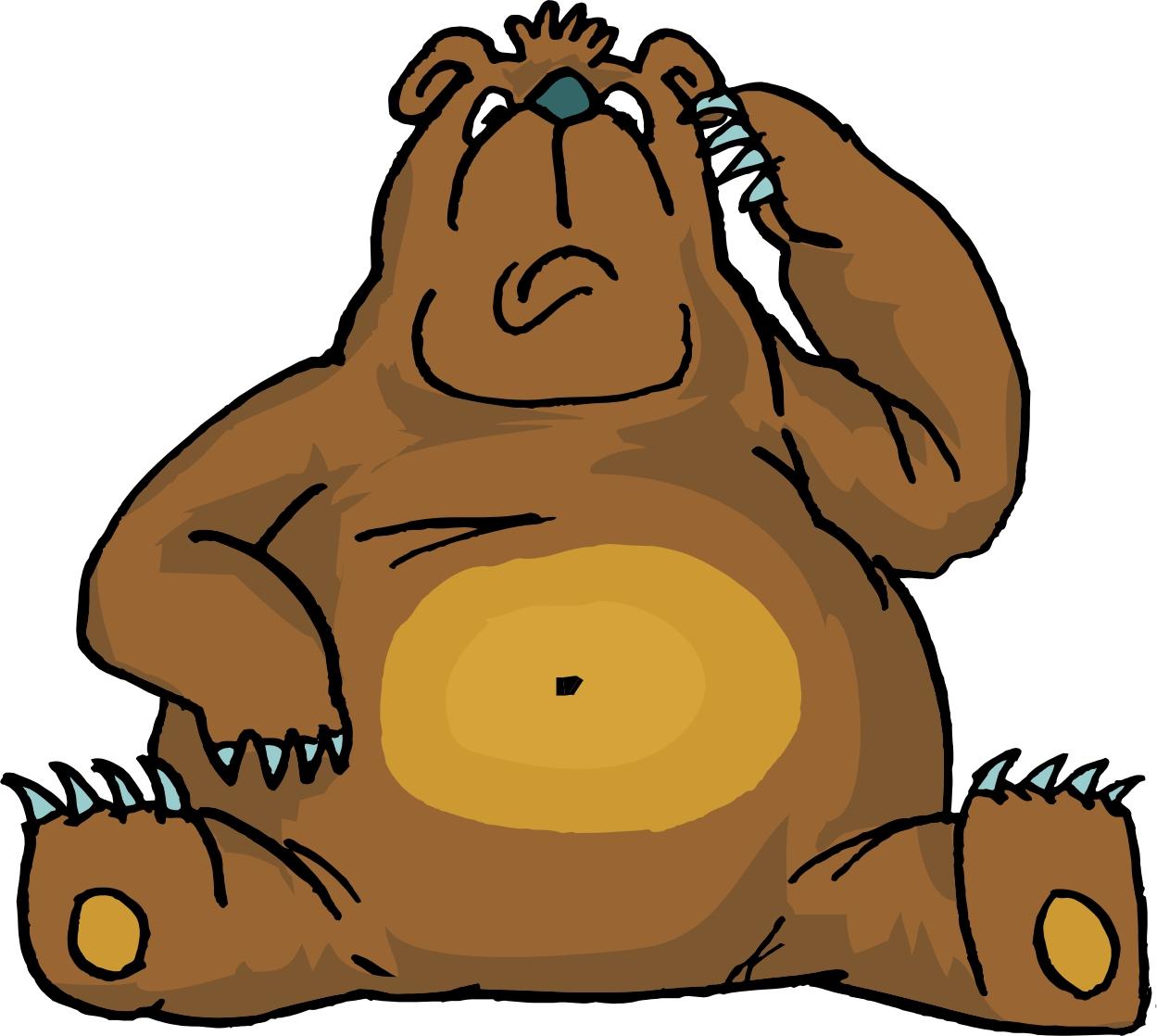 Brown Bear Cartoon.