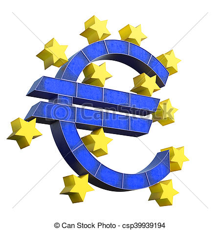Stock Illustration of European Central Bank Symbol isolated on.