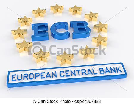 Clip Art of ECB European Central Bank.