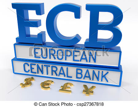 Clipart of ECB European Central Bank.