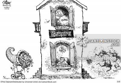 European Central Bank Cartoons and Comics.