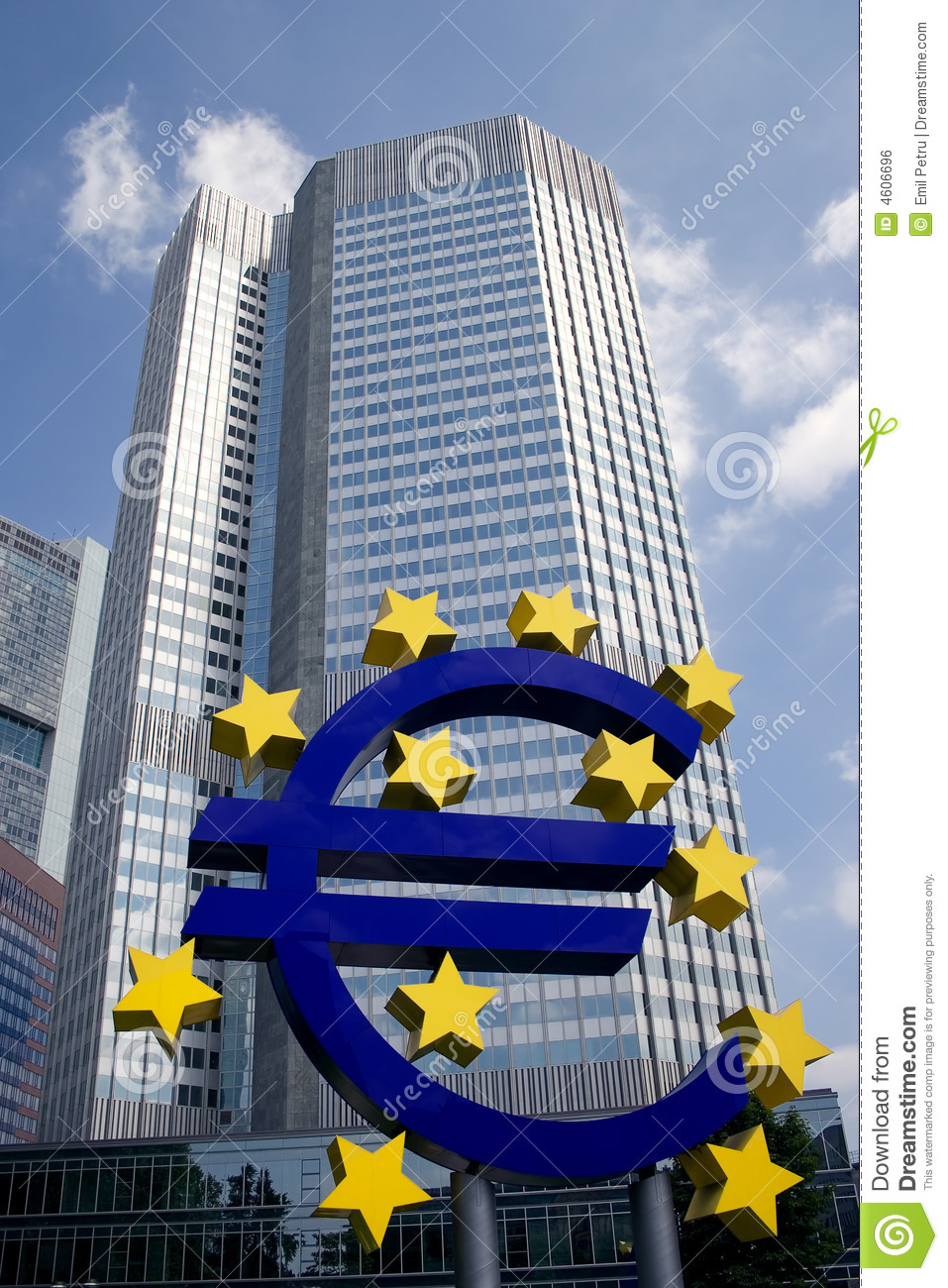 European Central Bank Sign Royalty Free Stock Image.
