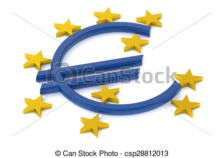 Clipart of European Central Bank concept isolated on white.