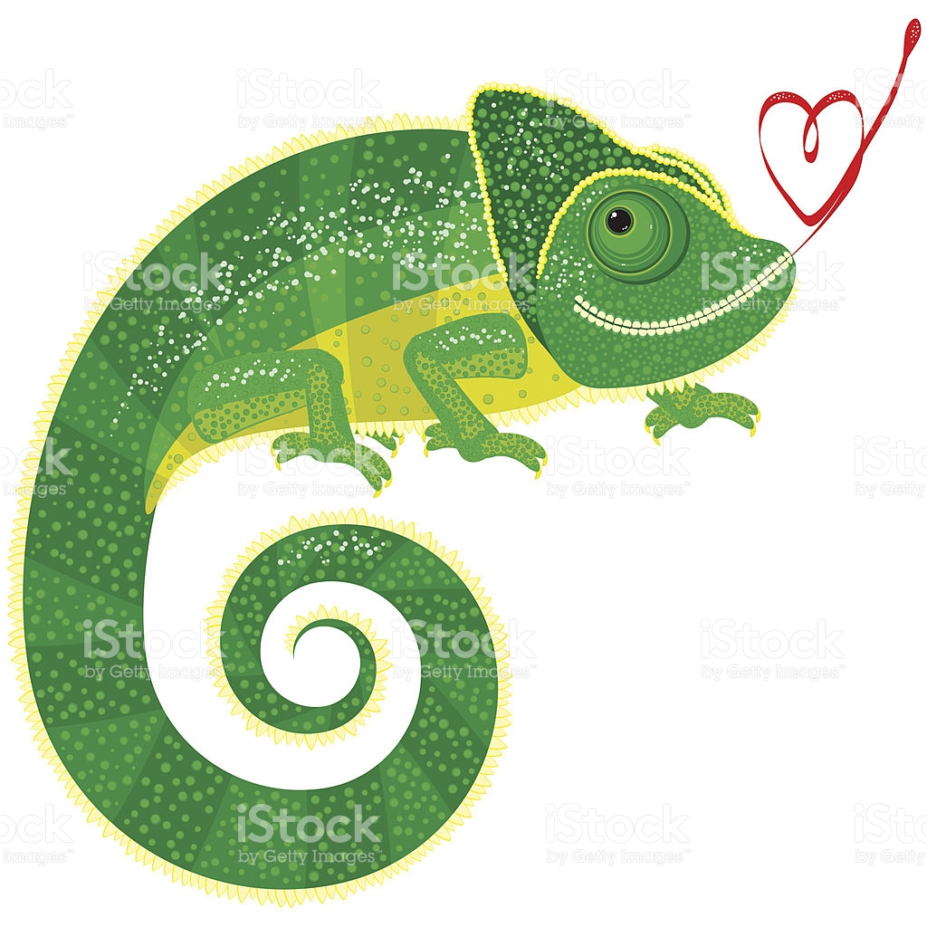 Isolated Chameleon With Valentine stock vector art 96205090.