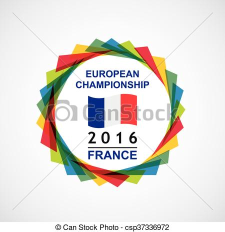 Vectors Illustration of 2016 European Championship.