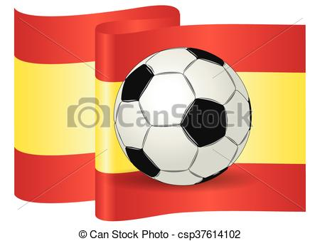 Vector Clipart of Soccer ball spain UEFA european championship.