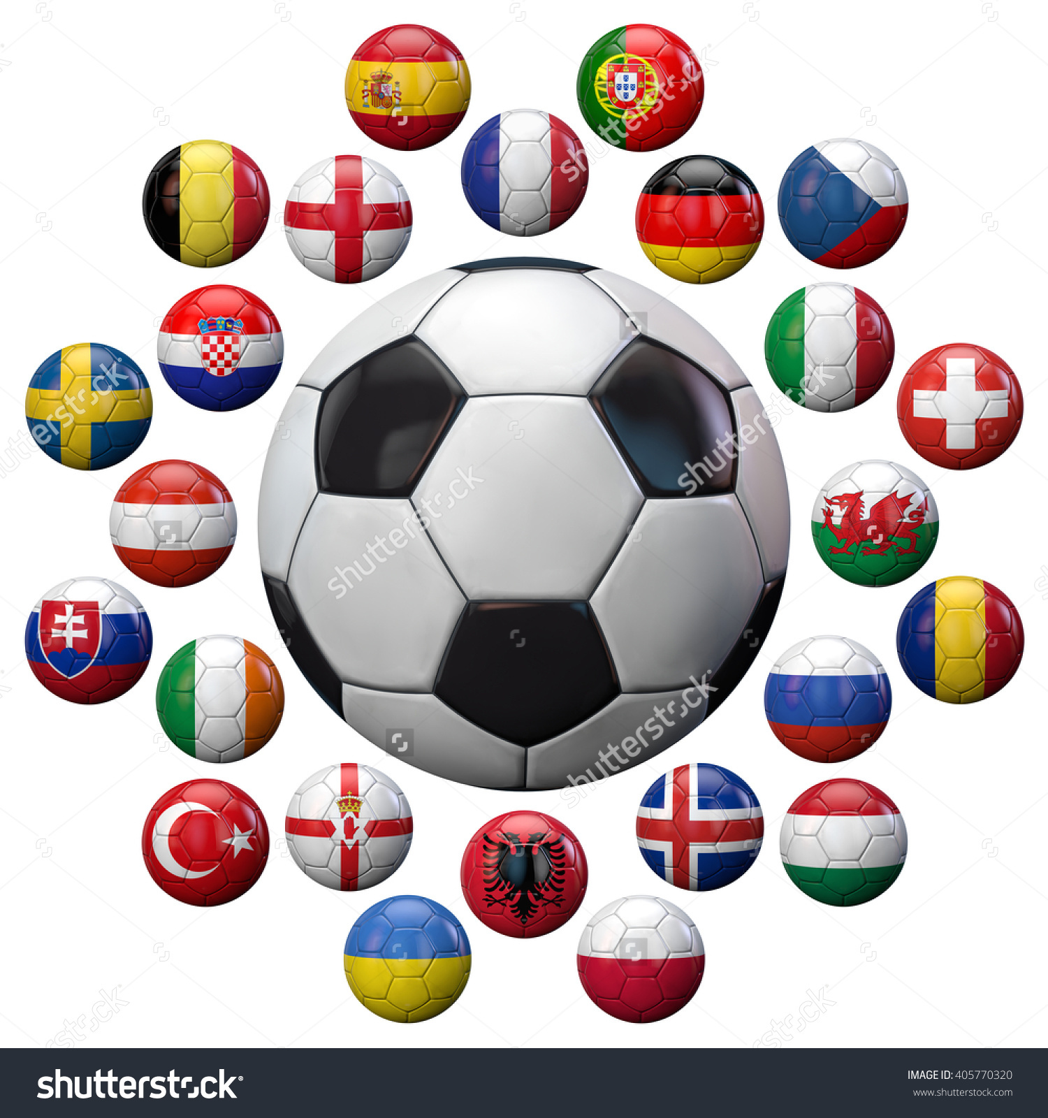 Football 2016 Uefa European Championship Football Stock.