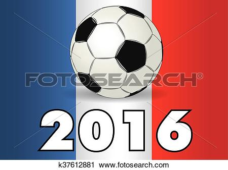 Clipart of Soccer ball france UEFA european championship k37612881.
