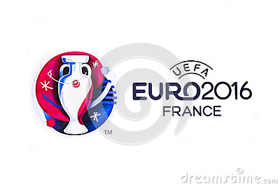 Logo Of The 2016 UEFA European Championship In France Editorial.