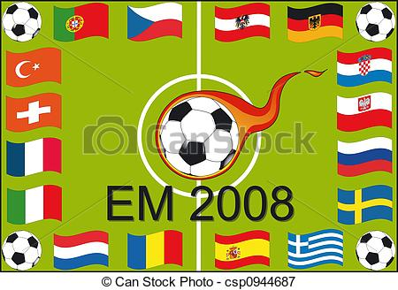 Stock Illustrations of European championship 2008.