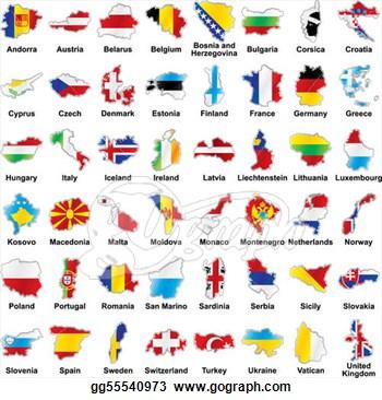 Clipart European Flags.