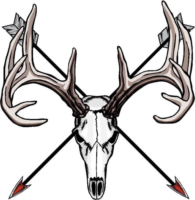 Buck Skull Clipart.