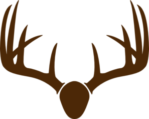 European Mount Deer Skull Clip Art.