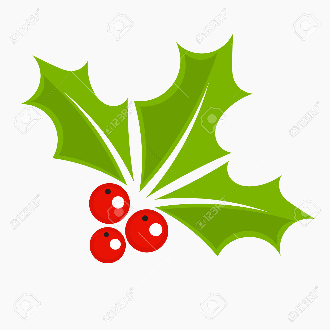 Holly Berry Icon, Christmas Symbol. Royalty Free Cliparts, Vectors.