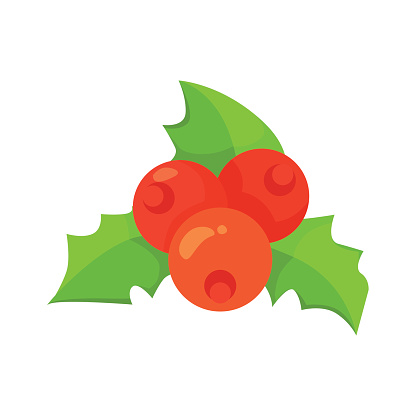 Silhouette Of The Holly Sprigs Clip Art, Vector Images.