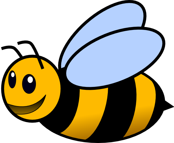 Honey bees clip art.