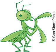 Praying mantis Clip Art Vector Graphics. 121 Praying mantis EPS.
