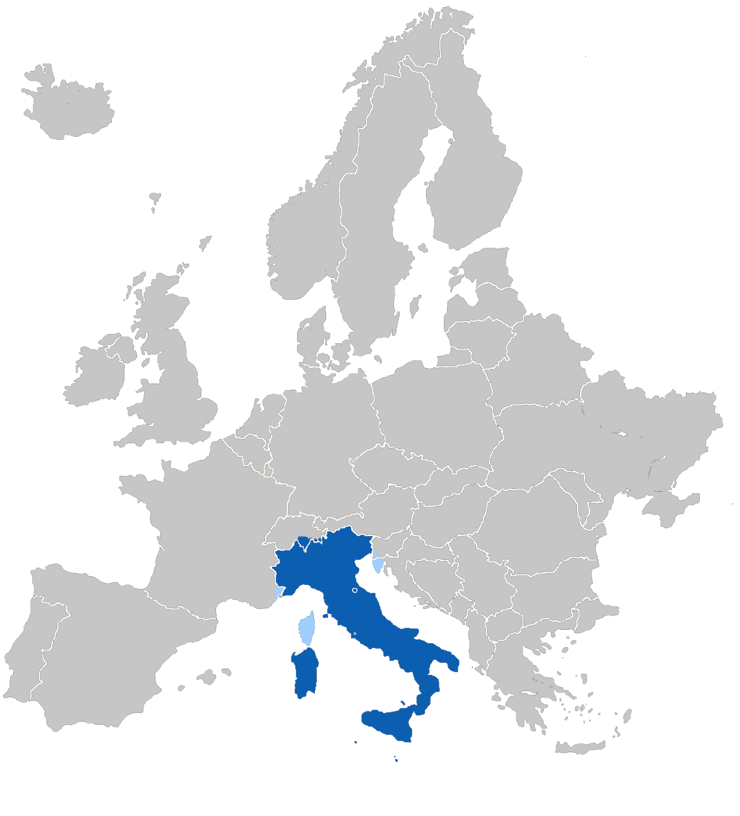 Map of europe clipart.