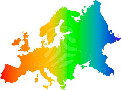 Europe map clipart.
