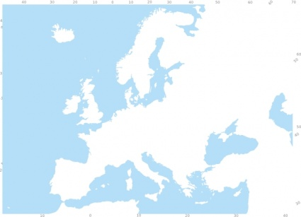 Map roads europe clipart.