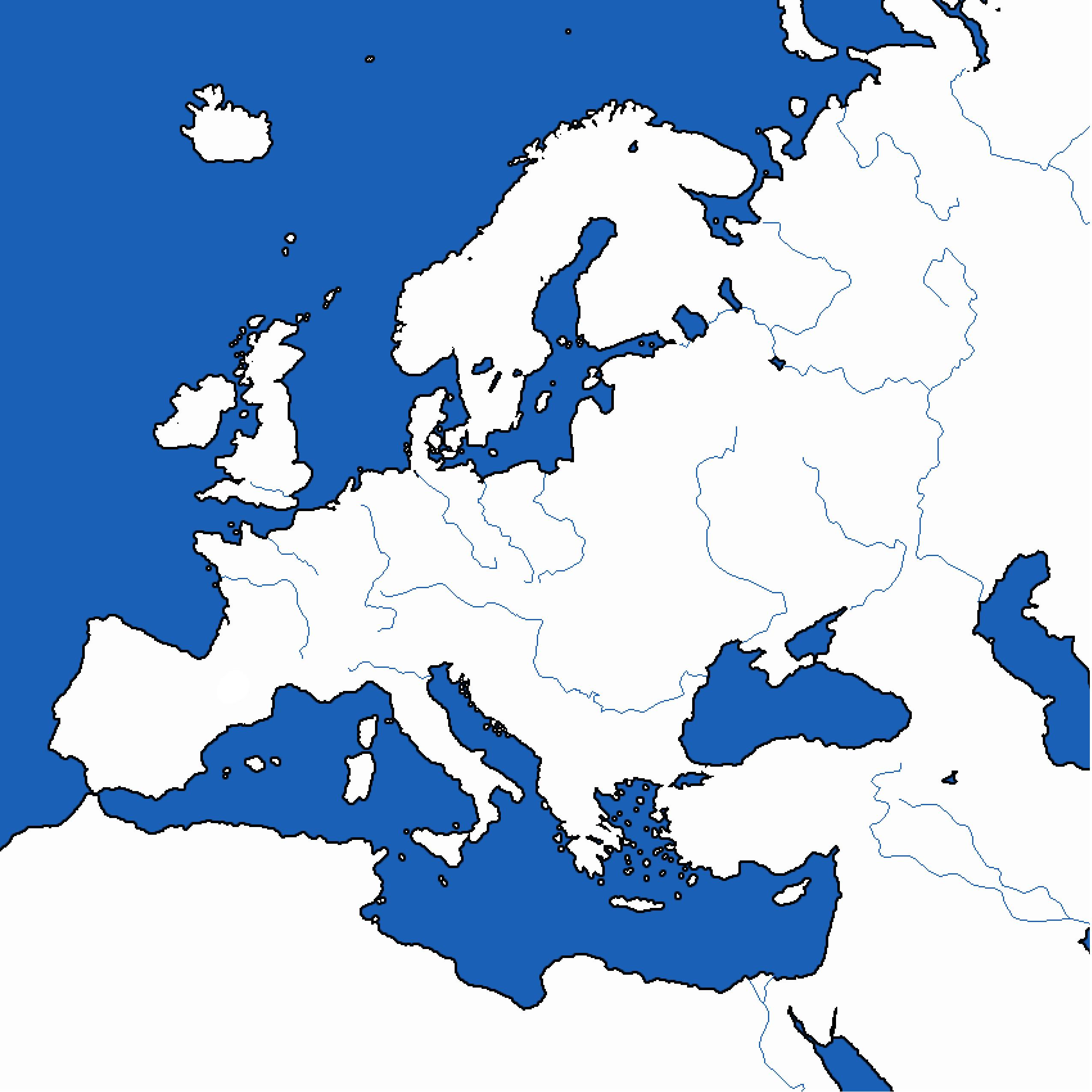 Map Of Europe Simple.