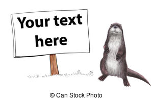 European otter Illustrations and Stock Art. 19 European otter.