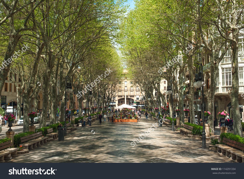 Boulevard Born Palma De Mallorca Spain Stock Photo 114291334.