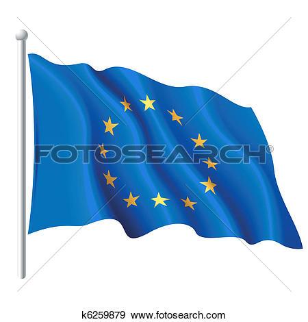 Clip Art of Flag of the European Union k6259879.