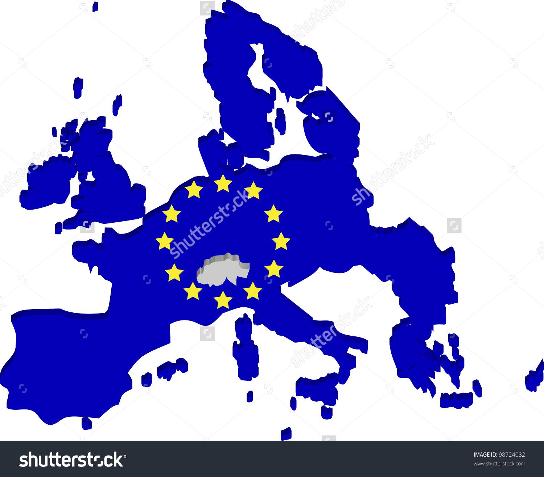 European Union Map Stock Vector 98724032.