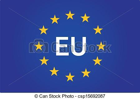 Vector of EU flag.