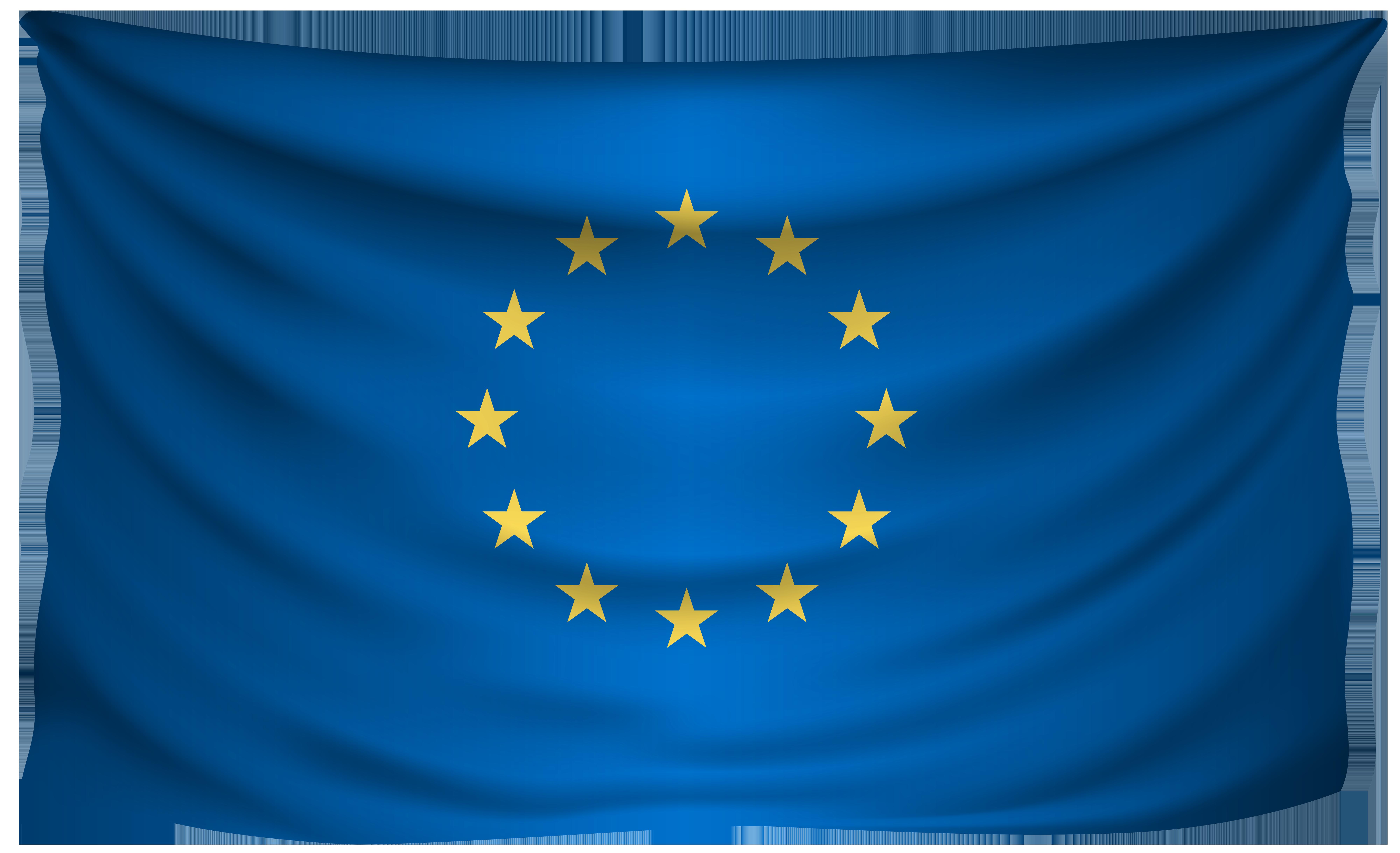 European Union Wrinkled Flag.