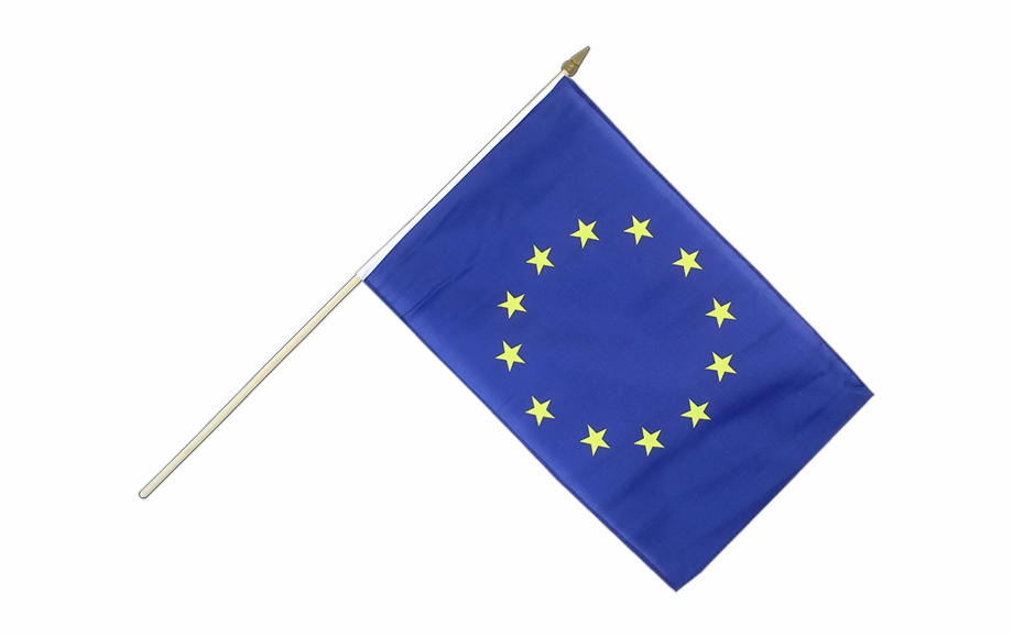 Hand Waving Flag European Union Eu.