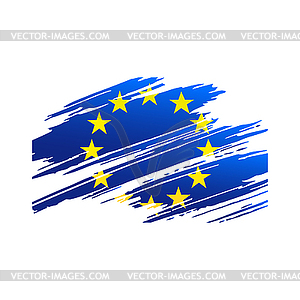 European Union in form traces brush.