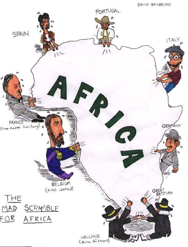 According To The Cartoon Which European Countries Werefighting For.