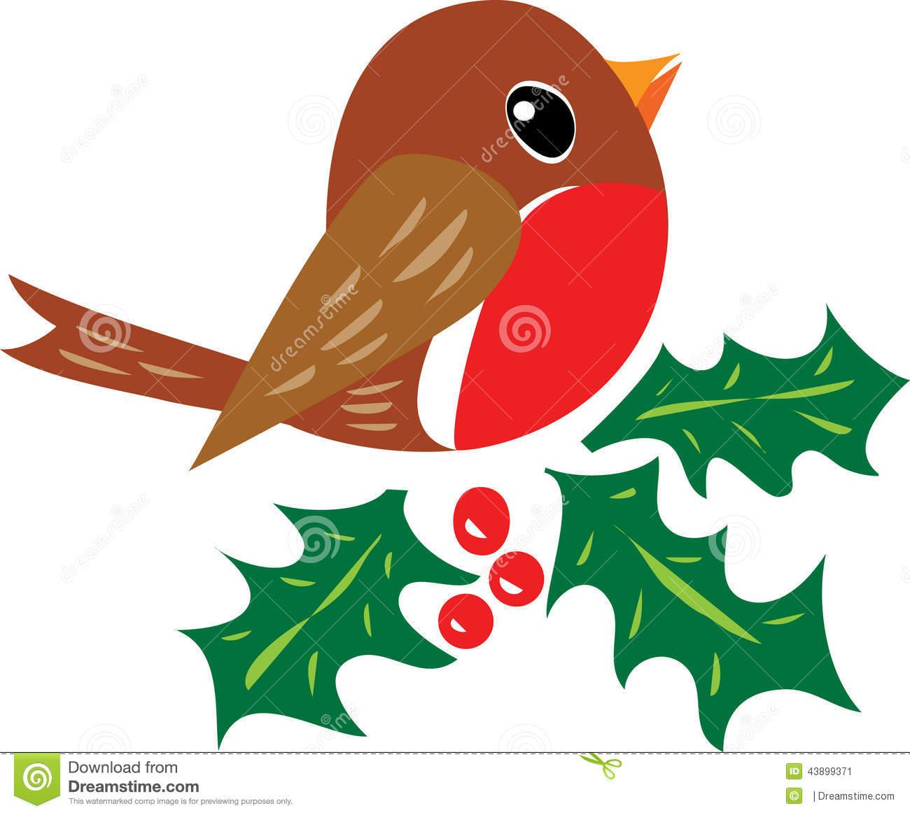 Christmas robin clip art free.