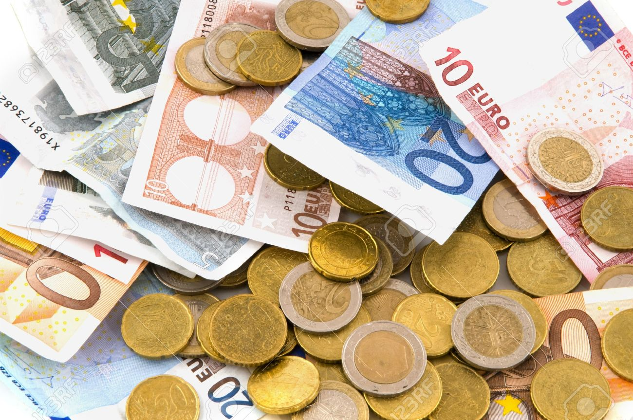 Many Money Euros Stock Photo, Picture And Royalty Free Image.