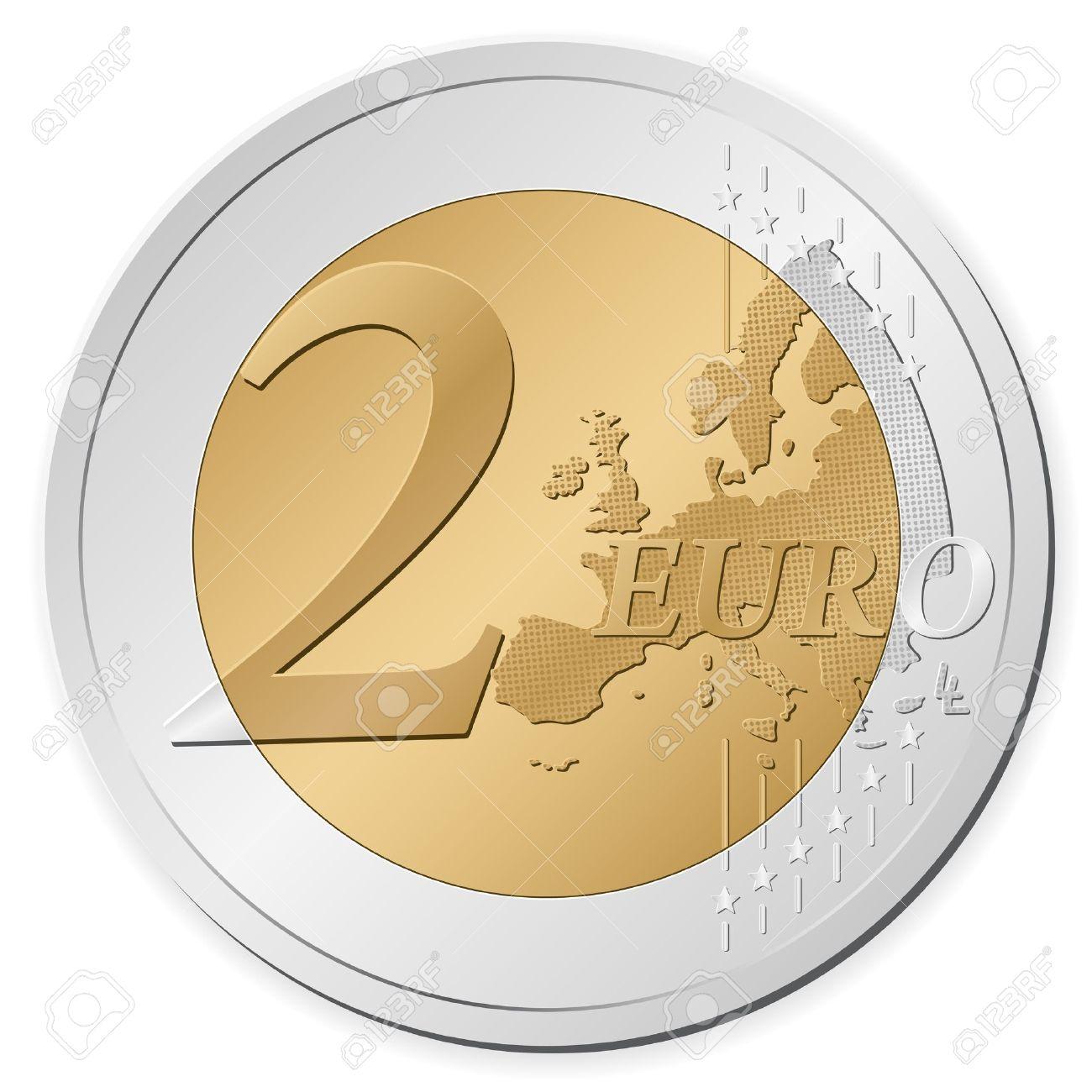2 euros clipart.