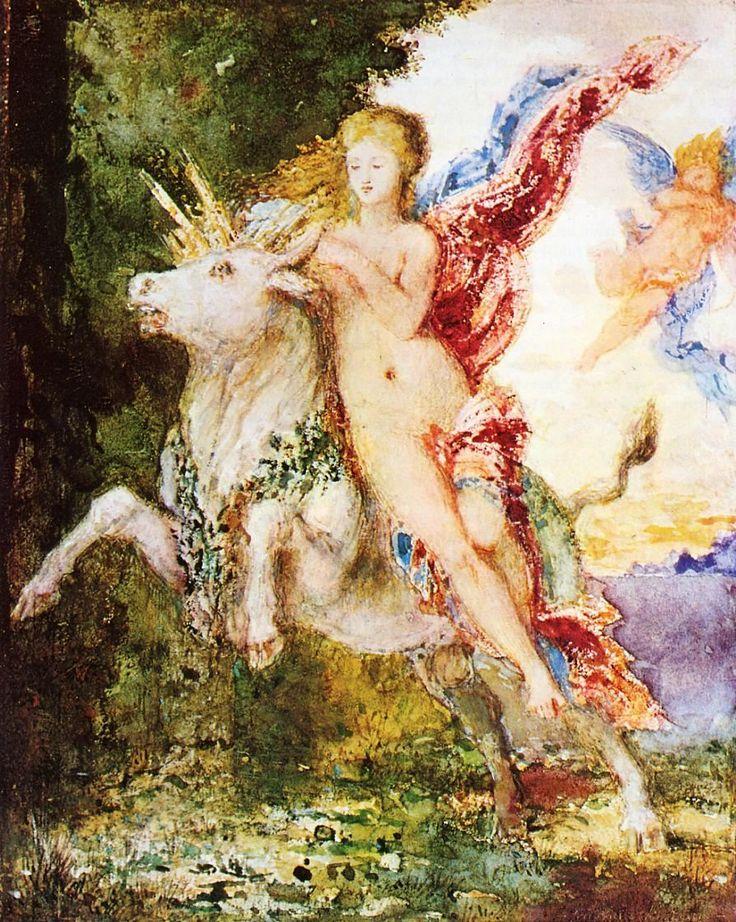 According to Greek mythology, the god Zeus was enamored of the.
