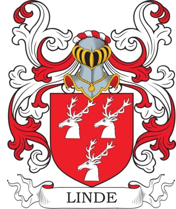 Linde Coat of Arms Meanings and Family Crest Artwork.
