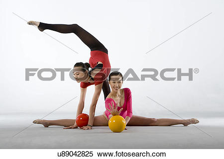 Stock Image of eurythmics,ball exercise u89042825.