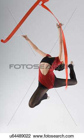 Stock Photo of eurythmics,rope exercise u64489022.