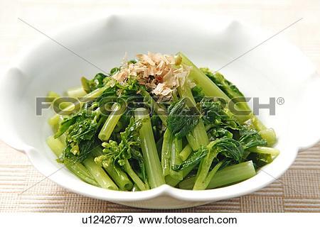 Stock Photograph of Wasabi Flowers (Japanese Horseradish, Wasabia.