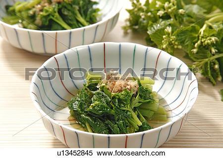 Stock Image of Wasabi Flowers (Japanese Horseradish, Wasabia.
