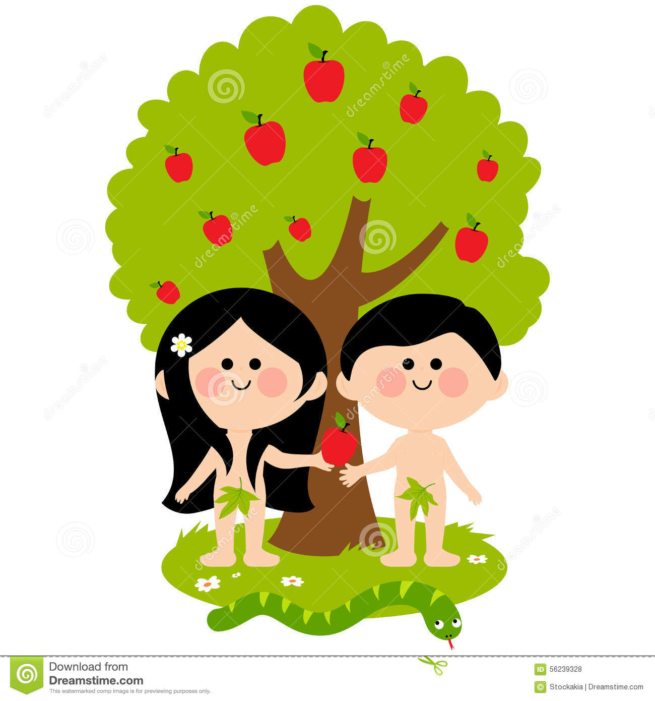 Adam And Eve Stock Vector.