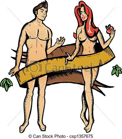 Adam og eva clipart.
